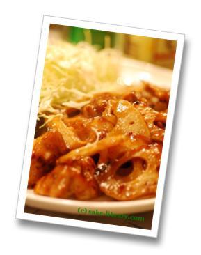 鶏肉とれんこんのバスサミコ酢炒め